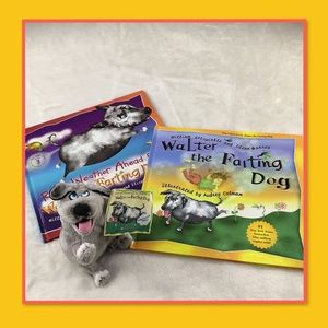 WALTER THE FARTING DOG BOOKS AND PLUSH